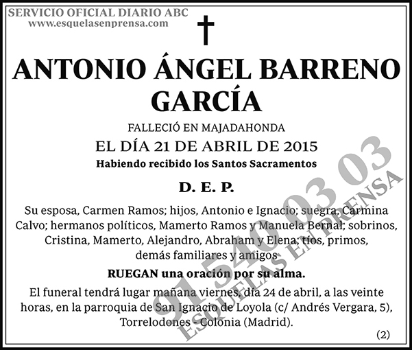 Antonio Ángel Barreno García